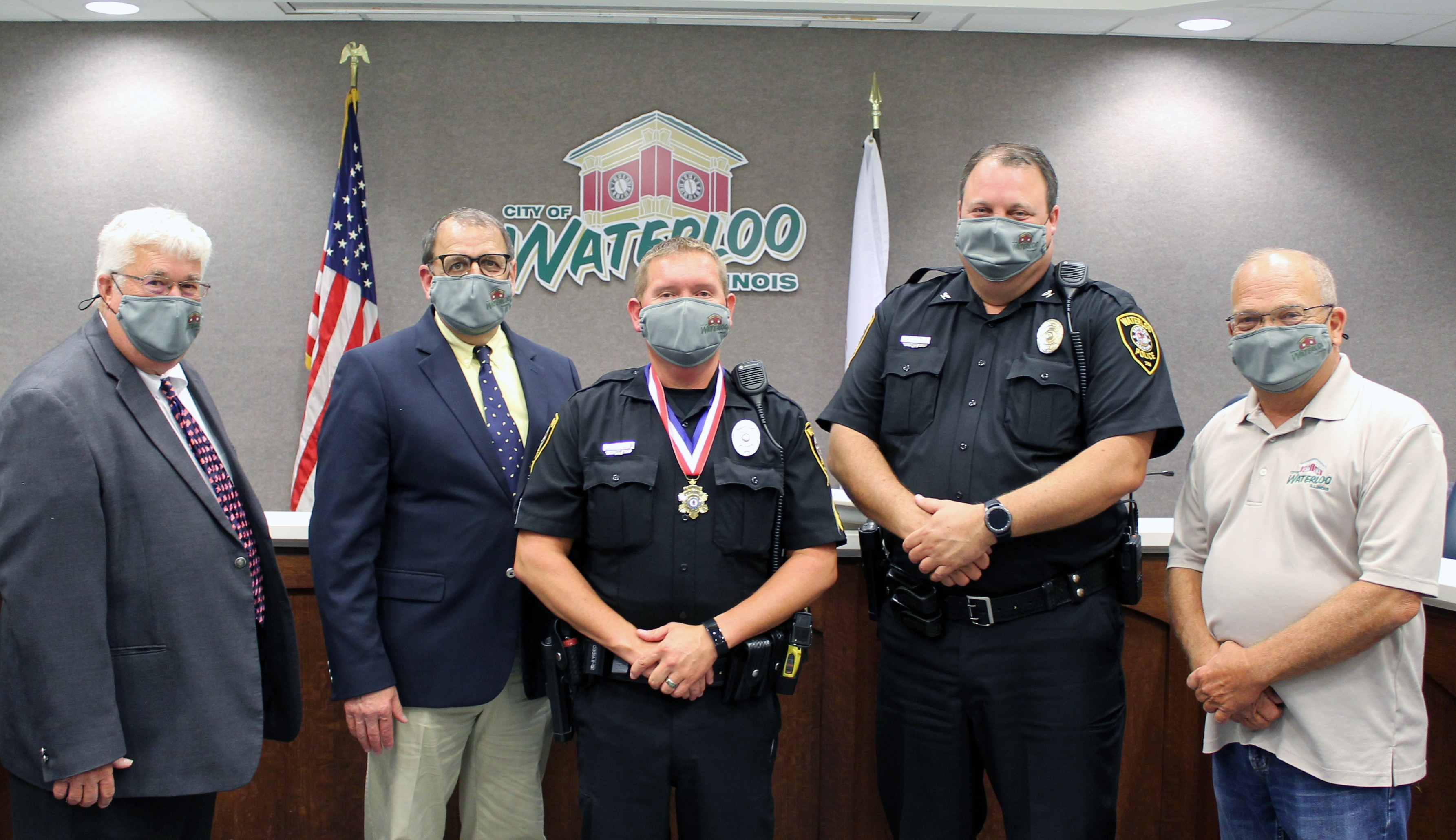 Waterloo's Daws receives Medal of Valor